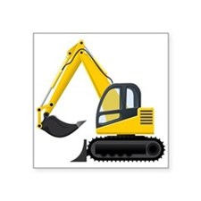 Yellow Excavator Sticker