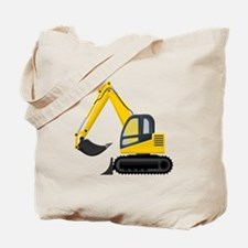 Yellow Excavator Tote Bag