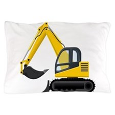 Yellow Excavator Pillow Case
