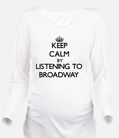 Funny Broadway Long Sleeve Maternity T-Shirt