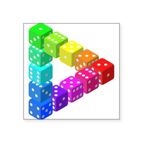 Impossible Dice Triangle Sticker