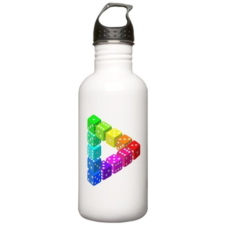Impossible Dice Triangle Water Bottle