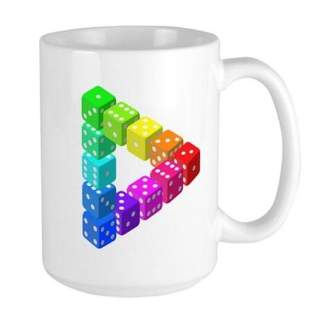 Impossible Dice Triangle Mugs