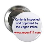 Vegan Police Approved Button