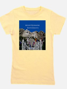 Mount Rushmore Customizable Souvenir Girl's Tee