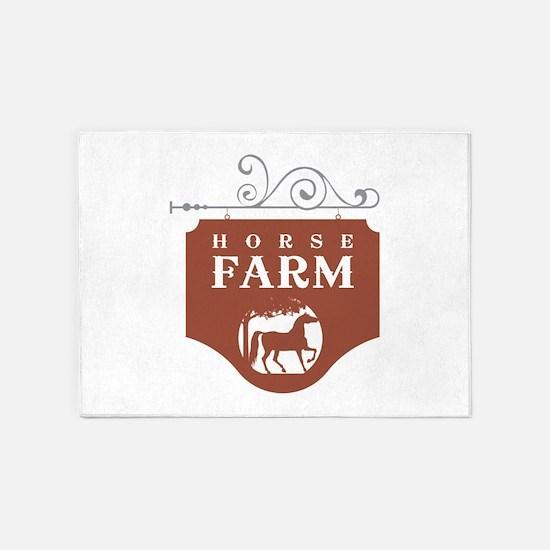 Horse Farm 5'x7'Area Rug
