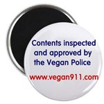 Vegan Police Approved Magnet