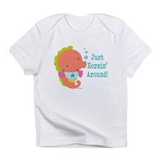 Funny Horse illustrated Infant T-Shirt