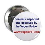 "Vegan Police Approved 2.25"" Button (10 pack)"