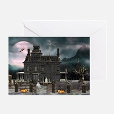 Haunted House 1 Greeting Cards
