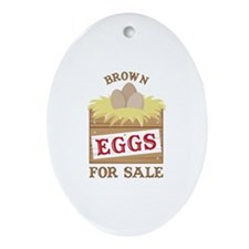 Brown Eggs Ornament (Oval)