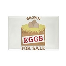 Brown Eggs Magnets