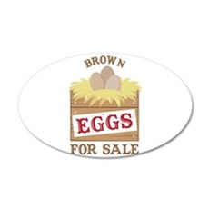 Brown Eggs Wall Decal