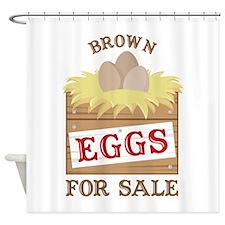 Brown Eggs Shower Curtain
