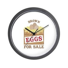 Brown Eggs Wall Clock