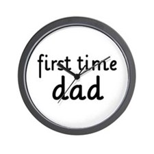 Father's Day First Time Dad Wall Clock