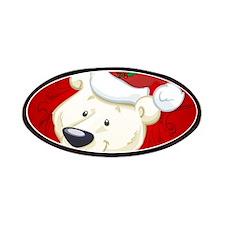 Christmas polar bear Patches