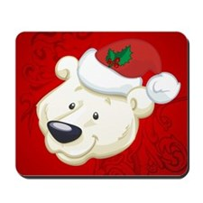 Christmas polar bear Mousepad