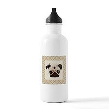 Pug Face - Soft Tan Pl Water Bottle
