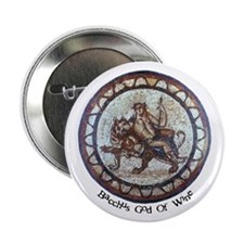 Bacchus God Of Wine Button