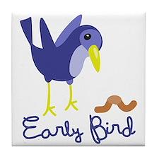Early Bird Tile Coaster