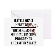 MERCY DEATH Greeting Card