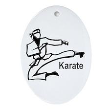 Karate Kick  Oval Ornament