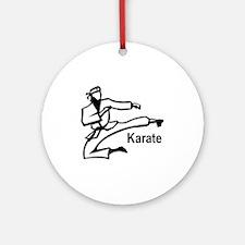 Karate Kick  Ornament (Round)