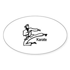 Karate Kick Oval Decal