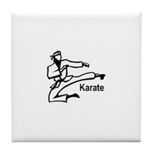 Karate Kick  Tile Coaster