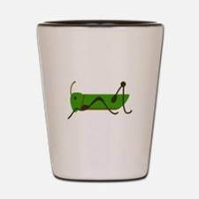 Cricket Grasshopper Shot Glass