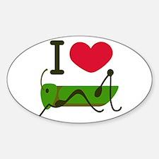 I Love Grasshopper Decal