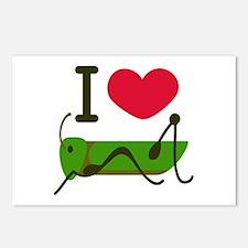I Love Grasshopper Postcards (Package of 8)