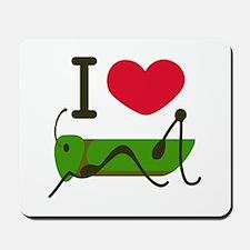 I Love Grasshopper Mousepad