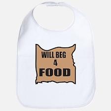 Will Beg 4 Food Bib