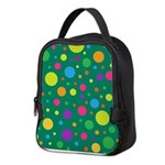 Polka Dots Rainbow Neoprene Lunch Bag