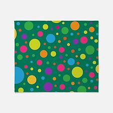 Polka Dots Rainbow Throw Blanket