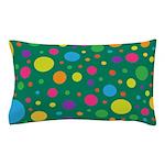 Polka Dots Rainbow Pillow Case
