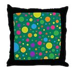 Polka Dots Rainbow Throw Pillow