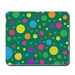 Polka Dots Rainbow Mousepad