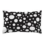 Polka Dot Black White Pillow Case