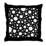 Polka Dot Black White Throw Pillow