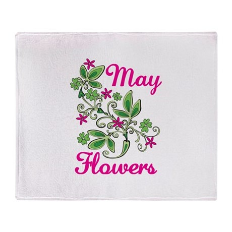 May Flowers Throw Blanket