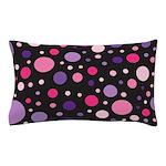 Polka dots pink purple Pillow Case