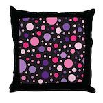 Polka dots pink purple Throw Pillow