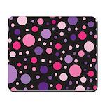 Polka dots pink purple Mousepad