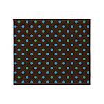 Polka Dots Blue Green Throw Blanket