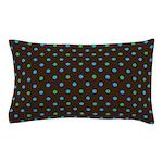 Polka Dots Blue Green Pillow Case