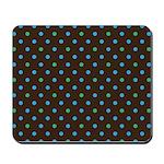 Polka Dots Blue Green Mousepad