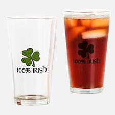 100% Irish Drinking Glass